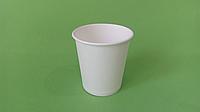Бумажный стакан белый однослойный, 250 мл (50шт)
