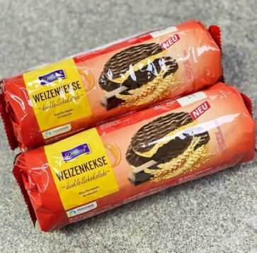 Печенье в молочном шоколаде Weizenkekse Delicia 300гр