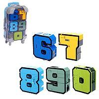 Игровой набор «Робоцифры», в чемодане от 6 до 0, цвета МИКС