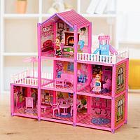 Дом для кукол «Коттедж» с куклами, с аксессуарами