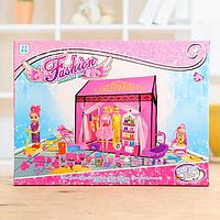 Дом для кукол, с куклами, с аксессуарами