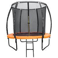Батут DFC KENGOO II 5ft внутр.сетка, оранж/черн (152см)
