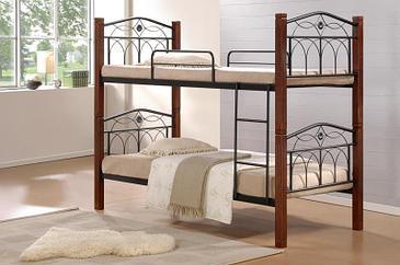 """Кровать """"Миранда"""" (черный) двухъярусная 0,9м ширина"""