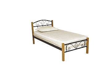 """Кровать """"Лара Люкс Вуд"""" 900х2000 (черный)"""