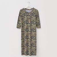 Платье женское, цвет хаки, размер 46