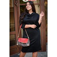 Платье женское, цвет чёрный, размер 52