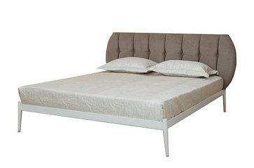 Бьянка Кровать 1600х2000 (белый) (светлое изголовье)