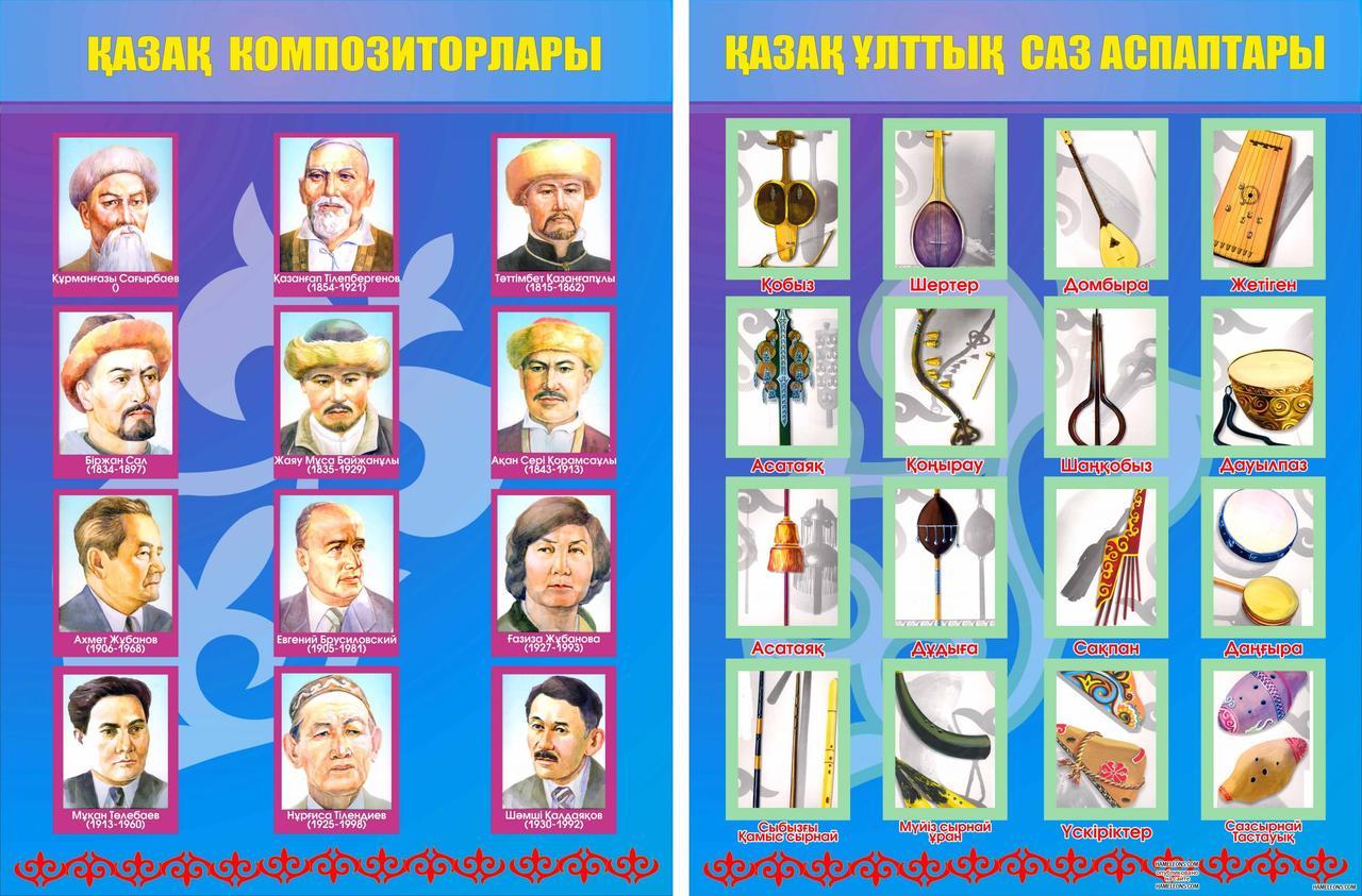 Плакат казахских поэтов