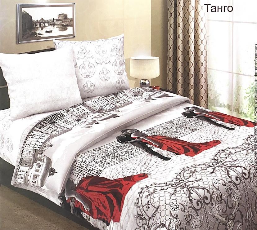 """Постельное бельё из бязи по Акции """"Танго"""", размер 1,5 спальный"""