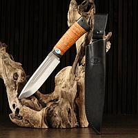 "Нож ""Селигер"", рукоять береста"