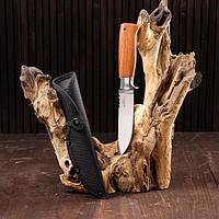 Нож охотничий 25см, Мастер К, зазубрины на лезвии
