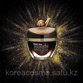Премиальный крем с золотом и муцином улитки FarmStay Gold Snail Premium Cream