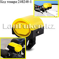 Сигнал звонок мини на велосипед на батарейках желтый
