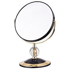 Зеркало настольное диаметр=18 см.высота=28 см.увеличение в 5 раз