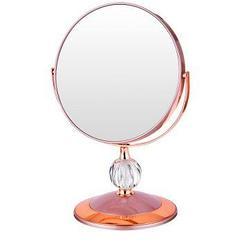 Зеркало настольное диаметр=18 см высота=28 см увеличение в 5 раз,