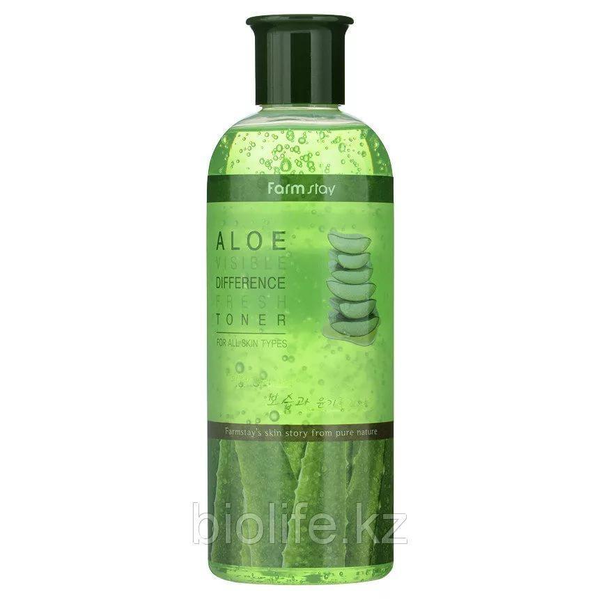 Тонер освежающий для лица алоэ Farm Stay Visible Difference Toner Aloe 350 ml