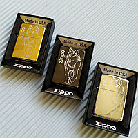 """Зажигалка """"Zippo"""" с волком. В подарочной коробке., фото 1"""