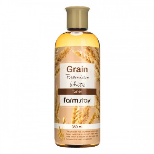Выравнивающий тонер с экстрактом ростков пшеницы FARMSTAY Grain Premium White Toner 350 мл