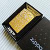 """Зажигалка """"Zippo"""" золотистая, в подарочной коробке."""