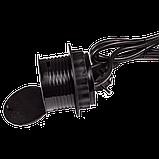 Лючок в стол на два кейстоуна + одна розетка со шнуром 1.8м, черный, фото 2