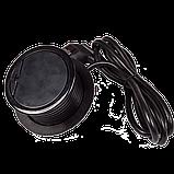 Лючок в стол на два кейстоуна + одна розетка со шнуром 1.8м, черный, фото 3