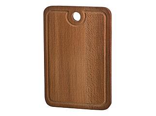 Доска разделочная деревянная с желобом бук 30*20*2см 430-112