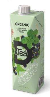 Холодный мятный чай с соком черной смородины, 500 грамм