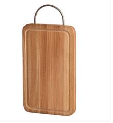 Доска разделочная деревянная с мет.ручкой и желобом 30*20*2 см