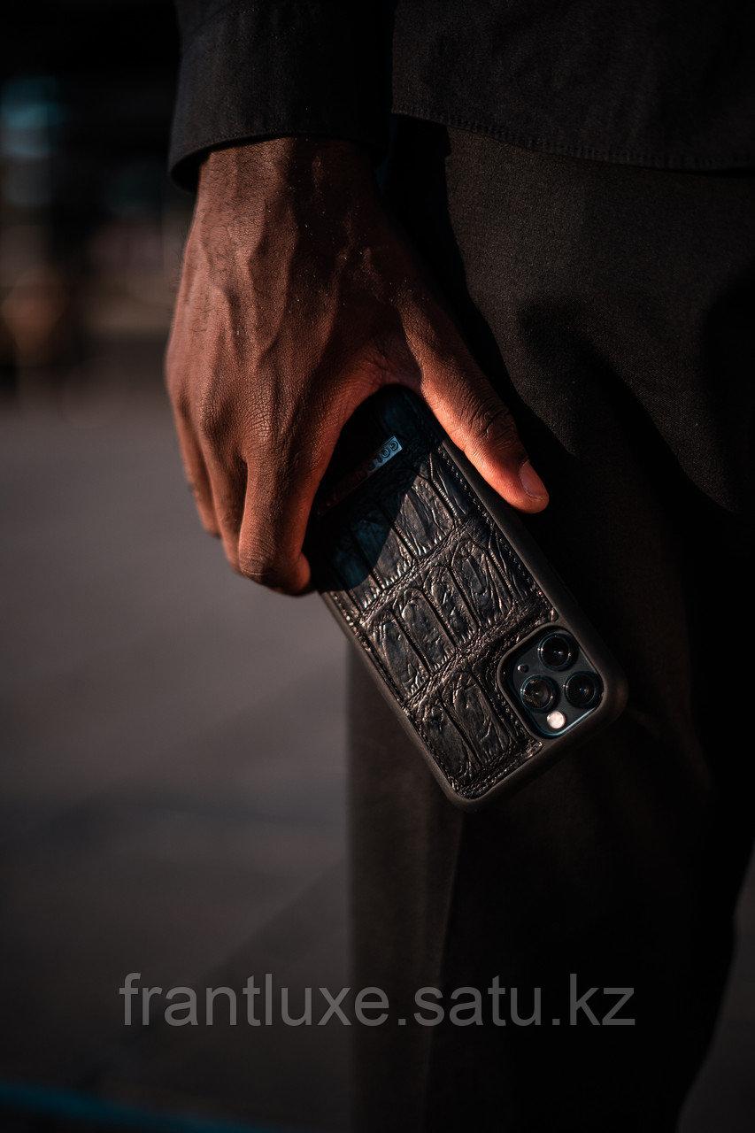 Чехол для телефона iPhone 12/12 Pro Croco Black - фото 8