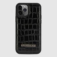 Чехол для телефона iPhone 12 Pro Croco Black