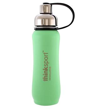 Think, Thinksport, изолированная бутылка для спорта, мятный зеленый, 17 унций (500 мл)