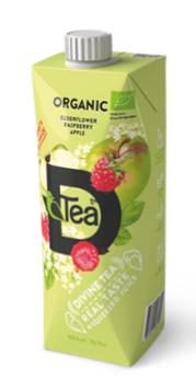 Холодный чай из черной бузины с малиновым соком, 500 мл