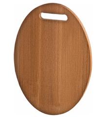 Доска разделочная овал с прорезями деревянная бук 33*23*2 см.