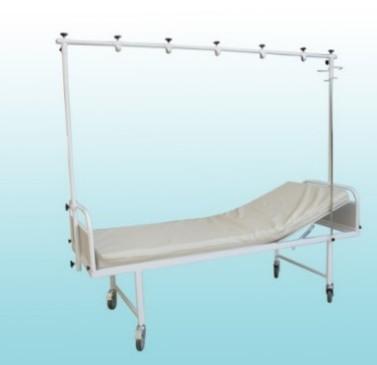 Кровать медицинская 2-х секционная с рамой балканского (для отделений травматологии)