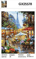 """Картина по номерам  """"Цветочная улочка Парижа"""" 40х50 см, фото 2"""