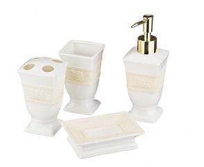 Набор для умывания 4 пр.:дозатор для мыла+стакан+подставка для зубных щеток+мыльница