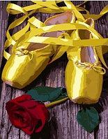 """Картина по номерам """"Пуанты и роза"""" 40х50 см"""
