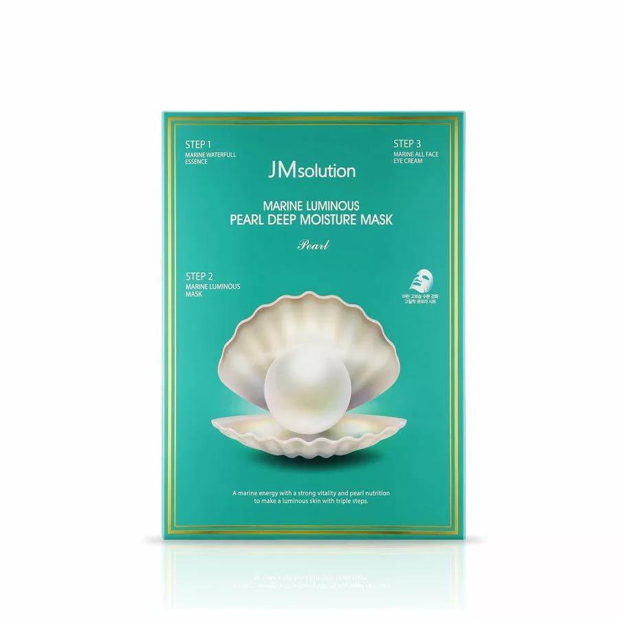Увлажняющий набор с жемчугом JMsolution Marine Luminous Pearl Deep Moisture Mask jm Solution маска