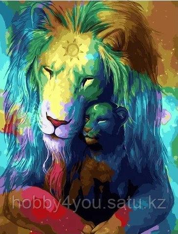 """Картина по номерам """"Небесные львы"""" 40х50 см"""