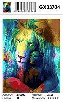 """Картина по номерам """"Небесные львы"""" 40х50 см, фото 2"""