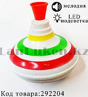 Игрушка Юла Музыкальная с LED подсветкой на батарейках