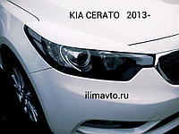 Реснички на фары на KIA Cerato/Киа Церато 2013-