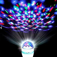 Светодиодная вращающаяся диско лампа Зимняя распродажа!