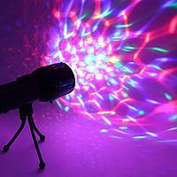 Светодиодный цветной LED проектор на штативе 2-в-1 Черная Пятница!