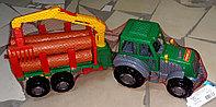 Инерционная машина, грузовик,  лесовоз, пластмассовая, Полесье.