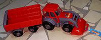 Инерционная машина, грузовик, трактор с прицепом, пластмассовая, Полесье.