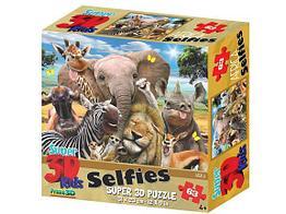 Prime 3D: Пазл Super 3D «Африка селфи», 63 детал.