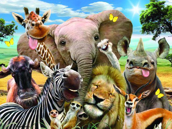 Prime 3D: Пазл Super 3D «Африка селфи», 63 детал. - фото 2