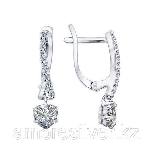Серьги из серебра с фианитами    SOKOLOV 94021948