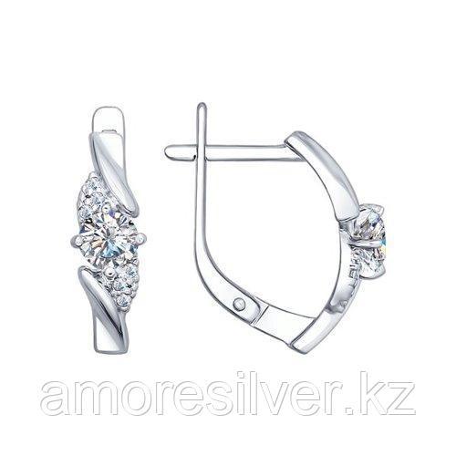 Серьги из серебра с фианитами    SOKOLOV 94022384
